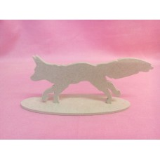 4mm MDF Fox on a base